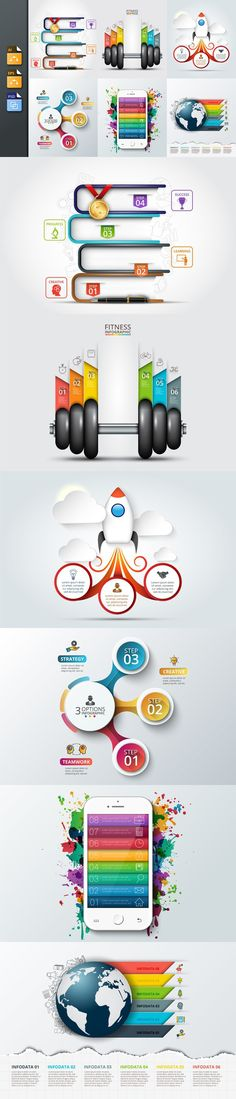 Business infographic templates v2