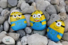 DIY Minion Steine bemalen - zum Spielen, Dekorieren und Verschenken