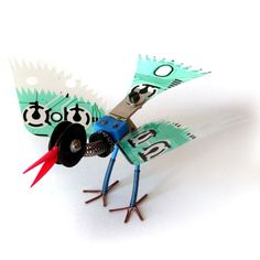 Recycled electronics - bird