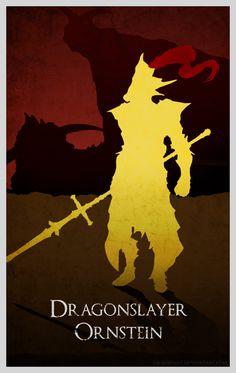 Dark Souls Minimal Poster - Dragonslayer Ornstein by Ob-servant