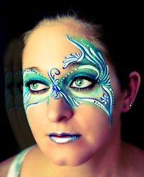 Blue Mask Face Paint