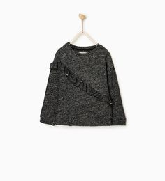 Image 1 of PLUSH SWEATER WITH CROSSOVER FRILL from Zara