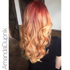 Beautiful Red to Blonde Balayage