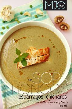 Mushrooms and Asparagus Soup! (#104) #mushrooms #asparagus #garlic #chicken #soups