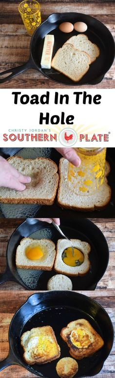 Toad in the Hole: 2 ways. This old fashioned meal in one has been a breakfast fa… Toad in the Hole: 2 ways. This old fashioned meal in one has been a breakfast favorite for generations! Breakfast Items, Breakfast Dishes, Eat Breakfast, Breakfast Recipes, Brunch Recipes, Fall Recipes, Dessert Recipes, Cooking Together, Eat Smart