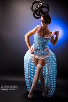 Balloon dress modeled by Nicole Johnson, hair/mu by Juan Santos and photographed by Dave Kelley