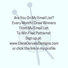 Have you joined my email list?  You should!  Every month I draw banes from the list and give away free patterns . Sign up at http://ift.tt/2ej43ro or click link in profile.