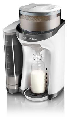 baby brezza formula pro does everything - from measure formula to heat the water to mix the bottle, all with the click of one button.