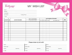 List to give to your spouse/parents etc - plus you can do a wedding registry or housewarming or baby shower registry with me too