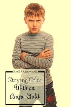 How to stay calm when you child is yelling at you and calling you names? These are some great parenting tips for dealing with an angry child.