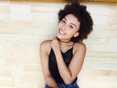 Black girls, Afro, happy