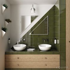 With countless colours to choose from our La Gemme range will suit any mood board. Green Tile Backsplash, Green Mosaic Tiles, Green Bathroom Decor, Bathroom Colors, Bathroom Tile Designs, Bathroom Interior Design, Olive Green Bathrooms, Turquoise Tile, Buy Tile