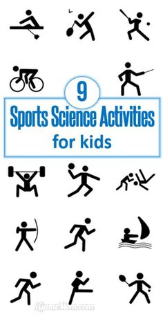 9 fun sports science activities for kids, from preschool, kindergarten to school age. Kids learn sports winning strategy, science, and being active. Could be fun ideas for Olympic parties. | STEM