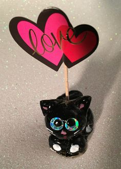 Kitty cat polymer clay ornament decoration cake topper charm figure figurine miniature sculpture petlover gift wedding birthday holiday by CatsClayandMore on Etsy https://www.etsy.com/listing/491969152/kitty-cat-polymer-clay-ornament