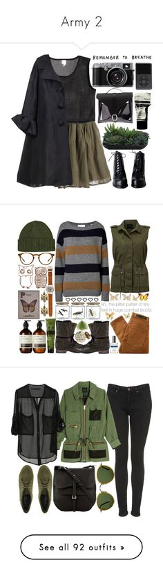 """""""Army 2"""" by par0dise ❤ liked on Polyvore featuring Antik Batik, Monki, Lanvin, Danielle Foster, Lux-Art Silks, Aesop, Modström, Patagonia, Oliver Peoples and A.L.C."""