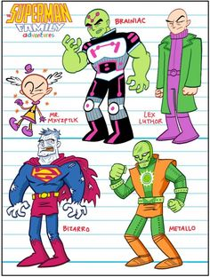 Art Baltazar's character designs for Superman Family Adventures            Art Baltazar's character designs for Superman Family Adventures. The first issue goes on sale in a week, and you can read 5 pages here. Via.    *Buy Krypto toys at eBay.    Posted by John at 4:25 PM      Labels: comic books, dc comics    0 comments:    Post a Comment    Links to this post    Create a Link  Newer Post Older Post Home  Subscribe to: Post Comments (Atom)        I'm John Struan. Contact me at jstruan at gmail
