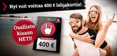 Syyskisassamme on palkintona huikea 400 euron lahjakortti. Osallistu kisaan ja jaa tieto kisasta myös kavereillesi! Siirry kilpailuun: http://www.emp.fi/com_2225_participate/?campaign=emp/fi/sm/pin/promotion/desk/09082014-voita-400-euron-lahjakortti