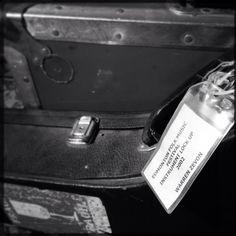 Though his appearance on Letterman would be his final performance. Warren's last full gig would be at the Edmonton Folk Festival in 2002. It's where he began to complain of breathing difficulty. He performed with multi-instrumentalist Matt Cartsonis. This is a picture of Matt's gear with festival tags. Photo by Phil Cody.