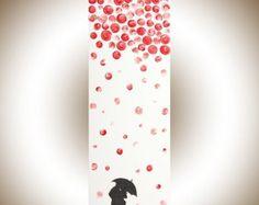 Pintura colorida Navidad cuatro temporada árbol por QiQiGallery