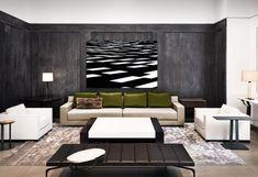 Holly Hunt New York contemporary-living-room Living Room New York, Living Room Grey, Formal Living Rooms, Home And Living, Living Spaces, Contemporary Interior Design, Modern Interior, Interior Architecture, Modern Design