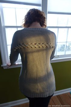 Stitch Fix: Olive & Oak Abby cut out detail sweater... Love this detail!