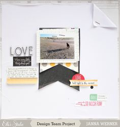 Janna Werner for Elle´s Studio - Love. Scrapbooking about dogs.