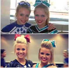 Carly Manning and Erica Engelbert! From cheer athletics panthers and cheer extreme senior elite