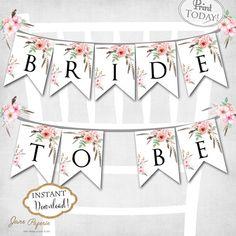 bridal shower banner template