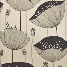 Poppy - Limestone   Walnut Wallpaper LOVE this and other color options