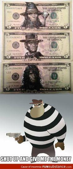Drawing on money