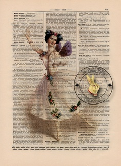 dictionary art: I really want to do this this summer. Will need to hunt for old dictionaries.
