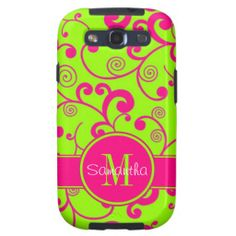 =>Sale on          Lime Green w/ Pink Scroll Design Custom Monogram Samsung Galaxy SIII Cover           Lime Green w/ Pink Scroll Design Custom Monogram Samsung Galaxy SIII Cover This site is will advise you where to buyThis Deals          Lime Green w/ Pink Scroll Design Custom Monogram Sa...Cleck Hot Deals >>> http://www.zazzle.com/lime_green_w_pink_scroll_design_custom_monogram_case-179161811302707992?rf=238627982471231924&zbar=1&tc=terrest
