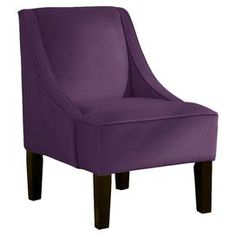Moira Accent Chair in Aubergine.  Ok, this color too.