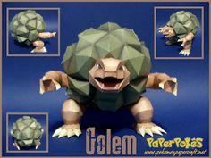 Paperpokés - Pokémon Papercraft: GOLEM
