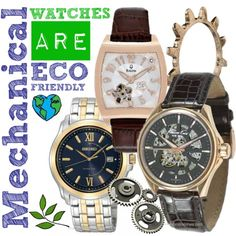 Mechanical and automatic watches are just as Eco-Friendly as solar powered watches as they don't require a battery! Read more: http://blog.princetonwatches.com/renewable-energy-watches/