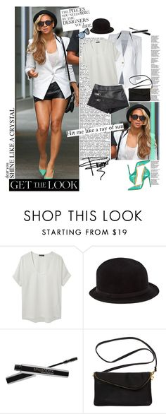 """""""Get the Look: Celebs in Sassy Summer Shorts"""" by tinchy ❤ liked on Polyvore featuring Helmut Lang, Richard Chai Love, Anja, REINHARD PLANK and Smashbox"""