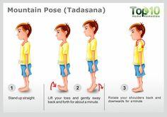 Mountain Pose for yoga or Tadasana