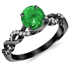 Black And Green Wedding Rings
