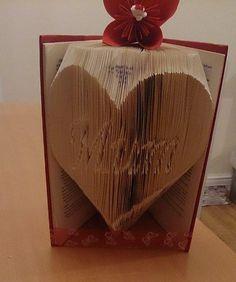 Inverted Mum in a Heart Book Folding Pattern