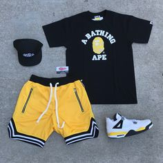 """Authentic Sole Boutique on Instagram: """"New Mesh B Ball shorts in 👆🏽👆🏽👉🏽 Pull up - we're open until 8pm. We have other colorways available in these comfy lounging shorts .…"""" Dope Outfits For Guys, Swag Outfits Men, Stylish Mens Outfits, Casual Outfits, Teen Boy Fashion, Urban Fashion Women, Tomboy Fashion, Streetwear Fashion, Hype Clothing"""