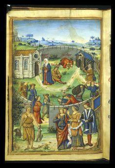 Description:Miniature with allegories failed by Fortune.  Origin:France, Central (Paris)