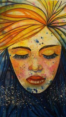 SolmilarArt: Akwarela: ZORZA POLARNA Decoupage, Folk, Watercolor, Painting, Art, Pen And Wash, Art Background, Watercolor Painting, Watercolour