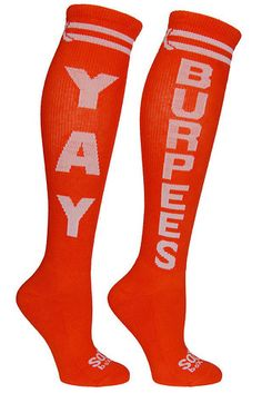 Knee-high socks that speak their mind | 27 Gifts For Crossfit-Obsessed People In Your Life