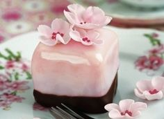 dessert, flower, food, pink, pretty - inspiring picture on Favim.com on We Heart It. http://weheartit.com/entry/27240415