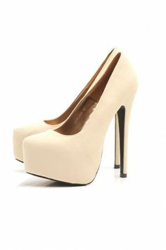 Faux Suede Platform Shoe - These gorgeous faux suede platform heels are a surefire bet to get your noticed this spring, a definite must have additon for any wardrobe