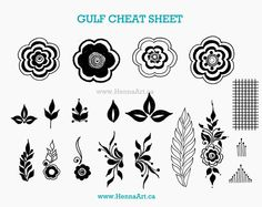 Gulf designs seem to be the trend this year. This blog post features a cheat sheet of various gulf elements. HennaArt.ca: Gulf Cheat Sheet