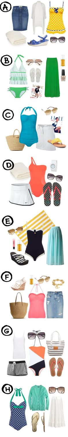 8 Modest Swimsuits Summer Outfits - HoneyBear Lane Add a swim skirt with each of these, and voila! Beautiful! <3