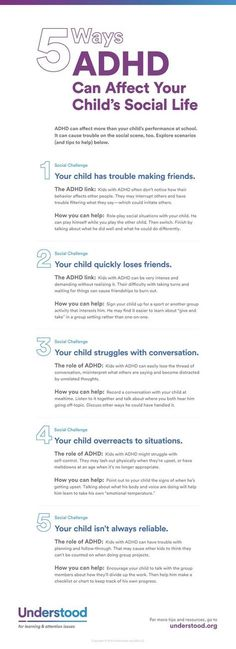 5 Ways ADHD Can Affect Social Skills ADHD can make it difficult for your child to concentrate and pay attention in school, but it affects more than just academics. ADHD can impact social skills as well. Adhd Odd, Adhd And Autism, Aspergers Autism, Kids And Parenting, Parenting Hacks, Adhd Help, Le Trouble, Adhd Diet, Adhd Strategies