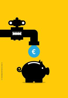 The public water company is going to be sold to private corporations. As voted today by the Greek parliament. We salute this decision. (Oct. 31st 2012)