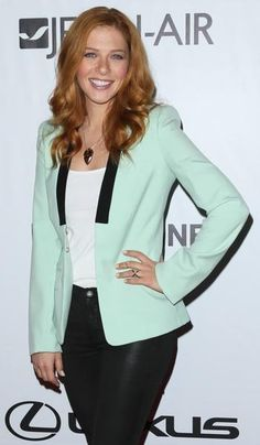 'Under the Dome' star Rachelle Lefevre arrives at the Los Angeles Food & Wine Festival.